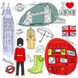De krabbels van Londen Royalty-vrije Stock Afbeelding