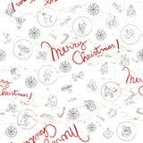 De krabbelspatroon van Kerstmis Royalty-vrije Stock Foto