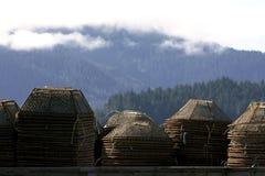 De krabpotten van Alaska royalty-vrije stock foto