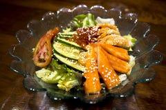 De Krabstok van de saladesashimi Royalty-vrije Stock Afbeeldingen