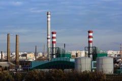 De Krachtcentrale van Csepel In Boedapest, Hongarije Stock Foto