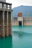 De krachtcentrale van de dam Stock Afbeeldingen