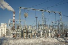 De Krachtcentrale van de elektriciteit royalty-vrije stock foto