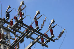 De Krachtcentrale van de elektriciteit stock afbeelding