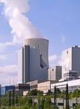 De krachtcentrale van de fossiele brandstof Stock Afbeelding