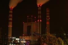 De krachtcentrale van de steenkool Stock Foto's