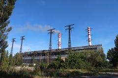 De krachtcentrale van de steenkool stock foto