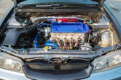 De krachtige motor van de moderne auto Royalty-vrije Stock Foto's