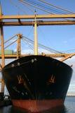 De kranen die van de brug containers, Valentie, Spanje laden Stock Foto's