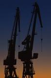 De kranen van de haven stock foto's