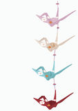 De kranen van de origami Stock Afbeeldingen