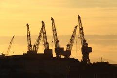 De kranen van Glasgow Stock Foto's