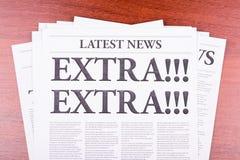 De krant extra! Royalty-vrije Stock Afbeelding