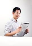 De krant van de lezing Royalty-vrije Stock Afbeelding