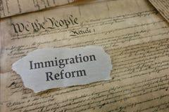De krantekop van de immigratiehervorming royalty-vrije stock afbeelding