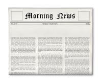 De krantekopmalplaatje van de krant Stock Afbeeldingen