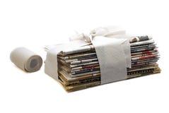De krantenconcept van het toilet Royalty-vrije Stock Foto's