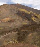 De krater Catanië Italië van vulkaanetna stock afbeelding