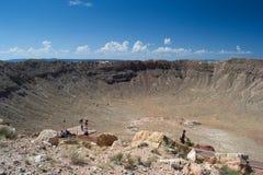 De krater van de meteoor Royalty-vrije Stock Fotografie