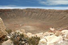 De Krater van de meteoor Stock Foto's