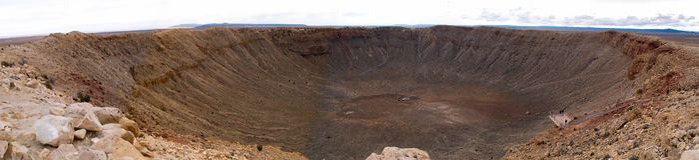 De krater van de meteoor stock fotografie