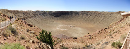 De Krater van de meteoor, Vlaggemast, Arizona Royalty-vrije Stock Foto's