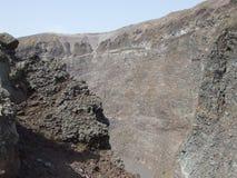 De Krater van de Vesuvius Stock Foto