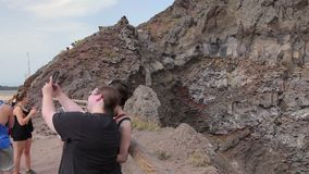 De krater van de Vesuvius stock videobeelden