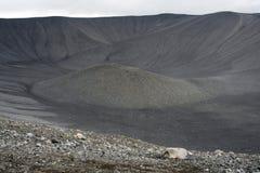 De krater van de vulkaan Royalty-vrije Stock Foto's