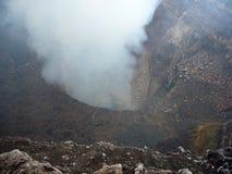 De Krater van de vulkaan Royalty-vrije Stock Foto