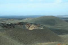 De Krater van de vulkaan stock foto's