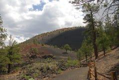 De Krater van de zonsondergang Royalty-vrije Stock Afbeeldingen