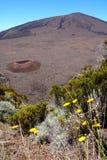 De krater van Dolomieu, het eiland van de Bijeenkomst Royalty-vrije Stock Foto's