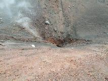 De krater van Etna Stock Foto's