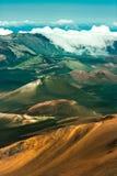 De krater van Haleakala stock foto