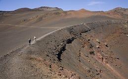 De krater van Haleakala Stock Fotografie