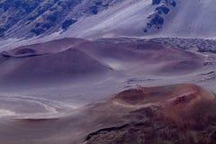 De Krater van Haleakala stock afbeeldingen