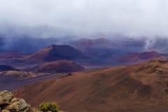 De krater van Haleakala Royalty-vrije Stock Foto's