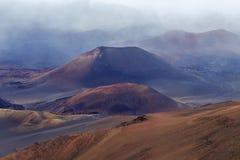 De krater van Haleakala Royalty-vrije Stock Afbeeldingen