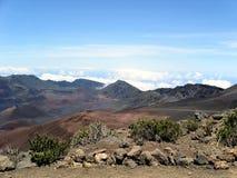 De krater van Haleakala Stock Foto's
