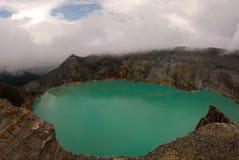 De krater van Ijen. Stock Fotografie