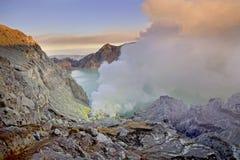 De Krater van Ijen Royalty-vrije Stock Foto