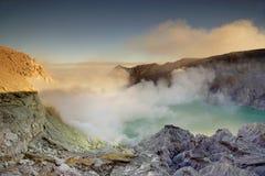 De Krater van Ijen Stock Afbeeldingen