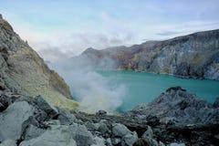 De Krater van Ijen stock afbeelding