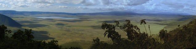 De krater van Ngorongoro stock afbeelding