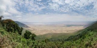 De Krater van Ngorongoro Stock Fotografie