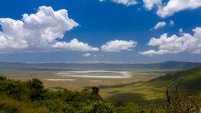 De Krater van Ngorongoro Stock Foto