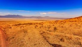 De krater van Ngorongoro in Tanzania Royalty-vrije Stock Afbeelding