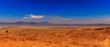 De krater van Ngorongoro in Tanzania Royalty-vrije Stock Afbeeldingen