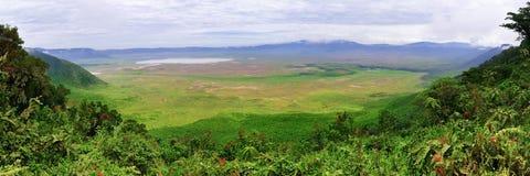 De Krater van Ngorongoro, Tanzania, Afrika royalty-vrije stock afbeeldingen
